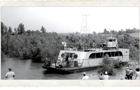 The Idle Time fun boat on Lake Texoma