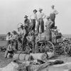 Shoe Bar Chuck Wagon, Hoodlum Wagon and Some of the Boys, Texas 1912, Nitrate negative, 4 x 5 inches