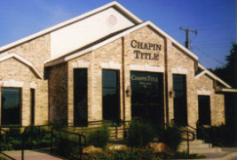 Since 1872: Chapin Title Co.