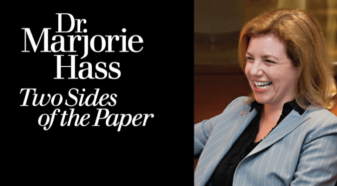 Dr. Marjorie Hass: Two Sides of the Paper
