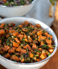Sweet Potato & Poblano Salad